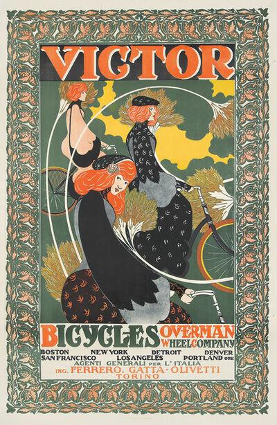 William H. Bradley, 'Victor Bicycles / Overman Wheel Co.', 1896