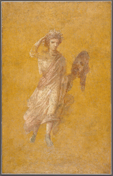 'Fragment of a Yellow Fresco Panel with Muse',  1 -75