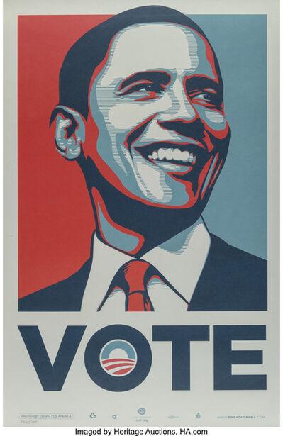 Shepard Fairey, 'Vote Obama', 2008