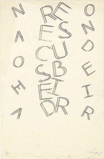 Eduardo Kac, 'Cartografia vertical', 1982
