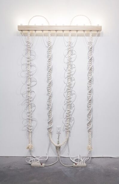 Dana Hemenway, 'Untitled (White Extension Cords, Rope)', 2016