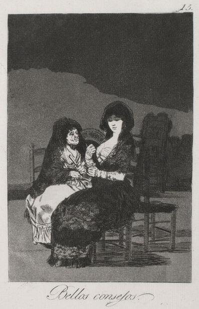 Francisco de Goya, 'Bellos Consejos (Wonderful Advice)', 1799