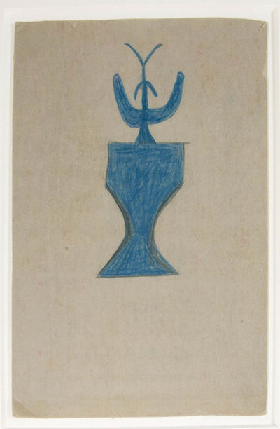 Bill Traylor, 'Plant in Vase'