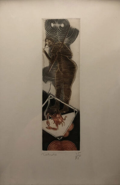 "Francisco Toledo, '""Mujer pescando langosta""', 1975-1990"