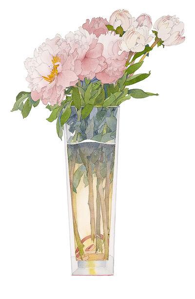 Gary Bukovnik, 'Pink Peonies in a Tall Vase', 2019