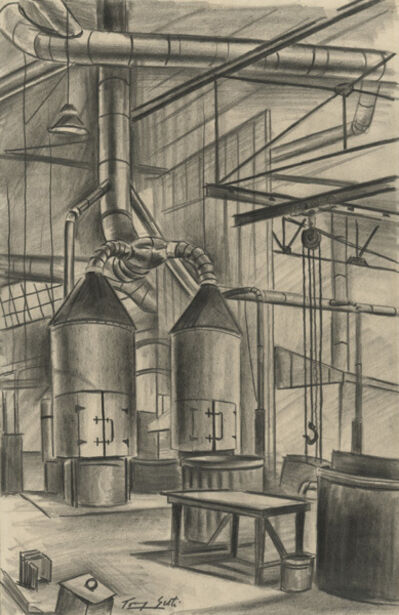 Tony Sisti, 'Bell Aircraft Factory--Ventilating Ducts', ca. 1941