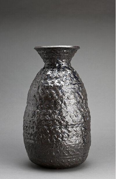 Makoto Yabe, 'Large vase with mishima pattern, wood ash glaze', 2003