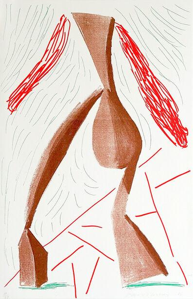 David Hockney, 'Walking, June', 1986