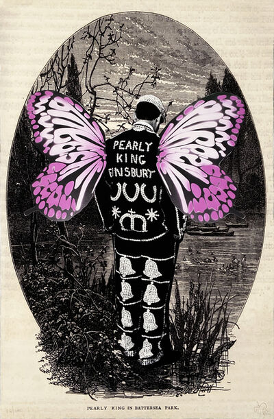 Pure Evil, ''Pearly King in Battersea Park' (pink)', 2013