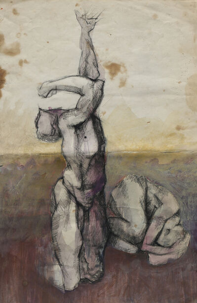 Sliman Mansour, 'Nude Man', 1967
