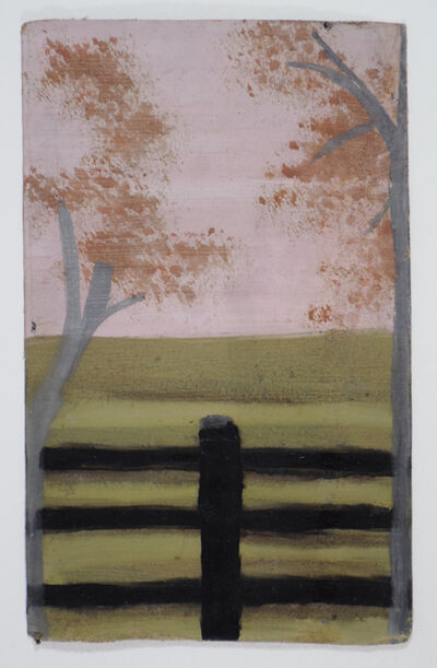 Frank Walter, 'Two Trees with Fence and Pink Sky', 1980