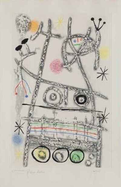 Joan Miró, 'Les forestiers (grey)', 1958