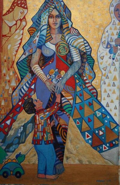 Meena Sansanwal, 'Mother and Child', 2009