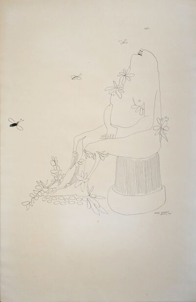 Benny Andrews, 'Utopia Study 5a', 1975