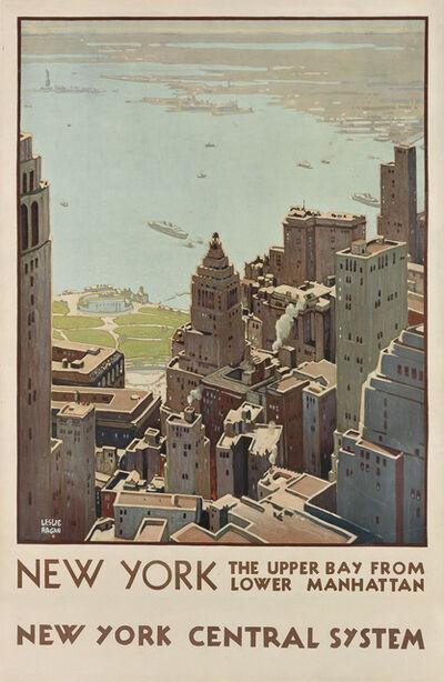 Leslie Ragan, 'NEW YORK / THE UPPER BAY FROM LOWER MANHATTAN', 1935