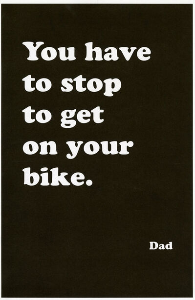 Ryan Gander, 'You have to stop to get on your bike (Poster encounter)', 2020