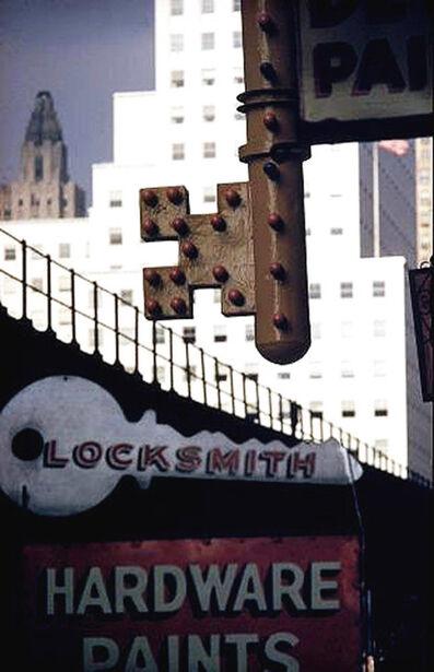 Ernst Haas, 'Locksmith Sign, New York', 1952