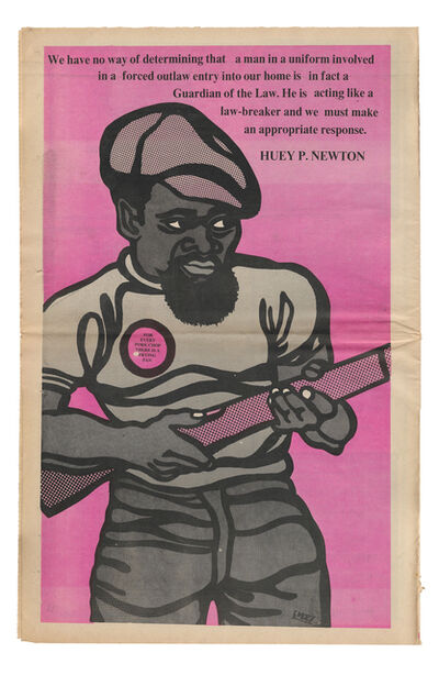 """Emory Douglas, '""""Guardian of the law""""', 1969"""