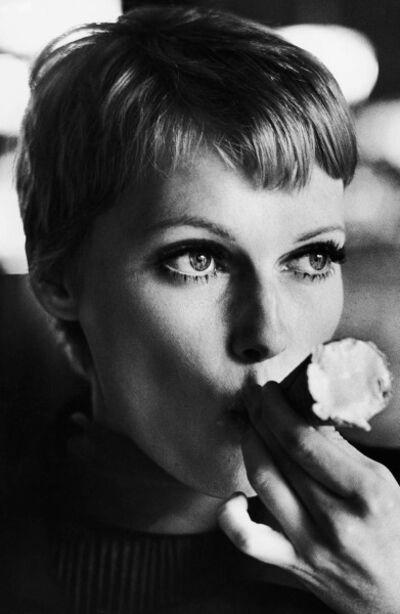 Terry O'Neill, 'Mia Farrow Eating Ice Cream', 1977
