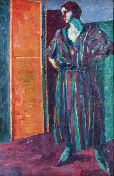 Alfred Wolmark, 'The striped gown ', 1921