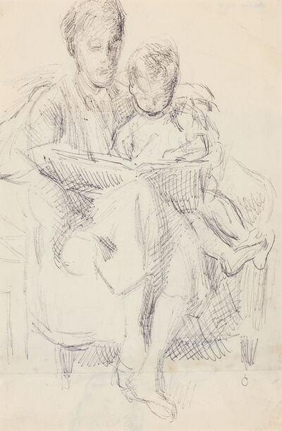 Duncan Grant, 'Vanessa Bell Reading to Her Son Julian/Study of Julian (a double sided work)', circa 1955