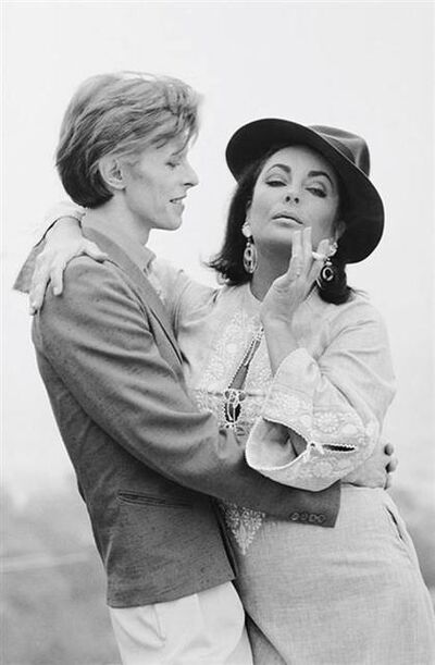 Terry O'Neill, 'David Bowie with Elizabeth Taylor, view 2', 1975