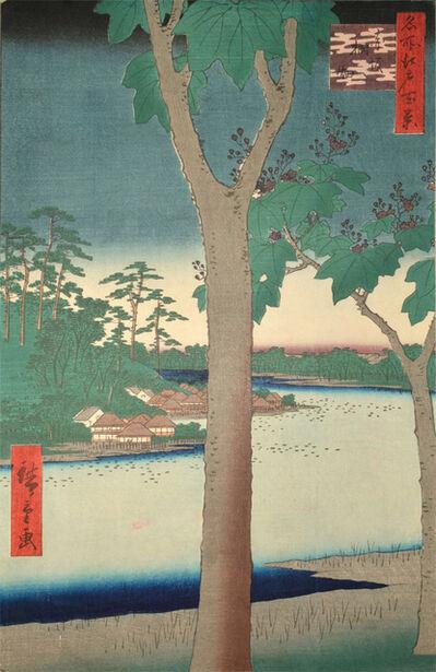 Utagawa Hiroshige (Andō Hiroshige), 'Kiribatake, Akasaka', 1856