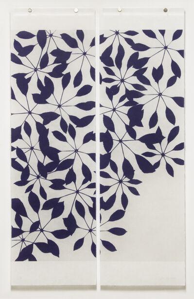 Jeri Eisenberg, 'Pinwheels Blue on White, diptych', 2013