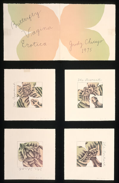 Judy Chicago, 'Butterfly Vagina Erotica, Complete Suite I/X', 1975