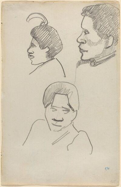 Paul Gauguin, 'Tahitian Heads', ca. 1891/1893