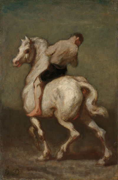 Honoré Daumier, 'Homme sur un cheval blanc', ca. 1860