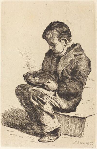 François Bonvin, 'Boy Eating Soup (Enfant mangeant sa soupe)', 1861