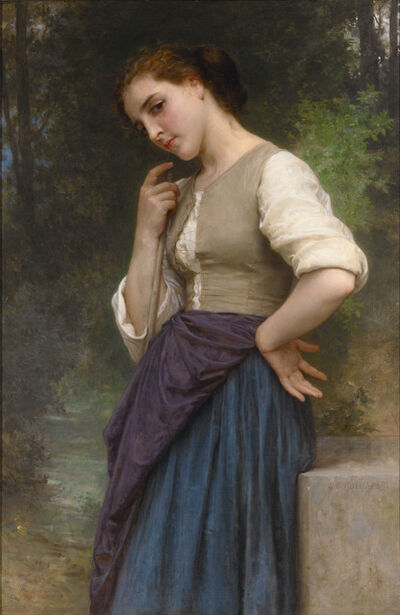 William-Adolphe Bouguereau, 'The Shepherdess', 1895
