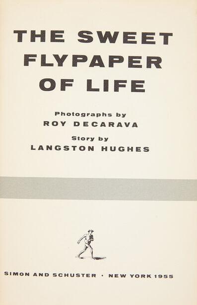 Langston Hughes, '[PHOTOBOOK] The Sweet Flypaper Of Life', 1955