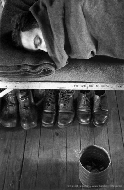 Harold Feinstein, 'Boots Stored Under Cot', 1952