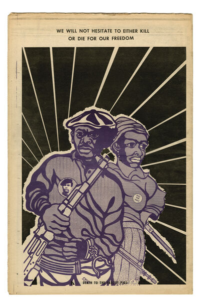 """Emory Douglas, '""""We will not hesitate to either kill or die for our freedom""""', 1970"""