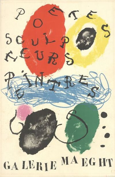 Joan Miró, 'Poets, Sculptors, Painters', 1960