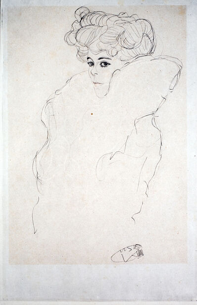 """Gustav Klimt, 'Study for """"Woman in a Boa"""" [Fünfundzwanzig Handzeichnungen]', 1919"""