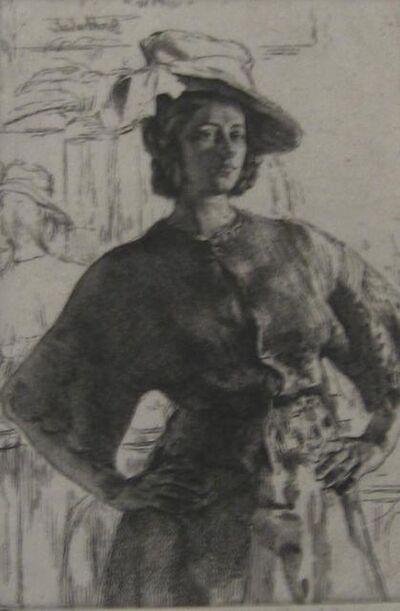 Gerald Leslie Brockhurst, 'The Mirror (Anais)', 1920