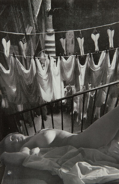 Georges Hugnet, 'Untitled (laundry and legs collage)', 1933-1936