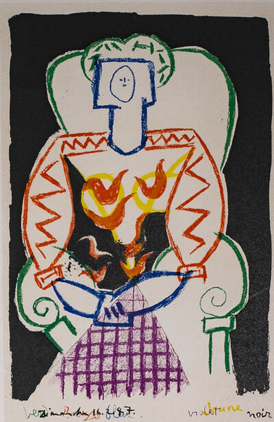 Pablo Picasso, 'La Femme Au Fauteuil (The Armchair Woman), 1949 Limited edition Lithogrph by Pablo Picasso', 1949