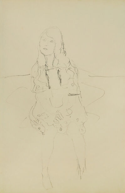 Gustav Klimt, 'Study for the Portrait of Mäda Primavesi', 1912-1913