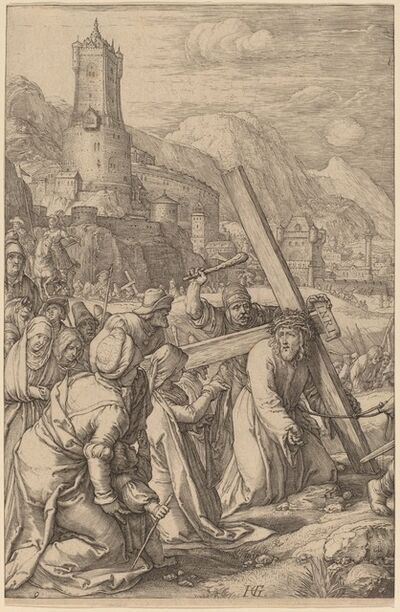 Hendrik Goltzius, 'Christ Carrying the Cross', probably 1598