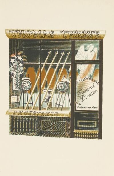 Eric Ravilious, ''UNDERTAKER'', c.1938