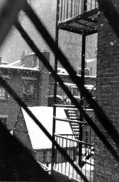 David Vestal, 'Falling Snow from Back Window, 133 West 22nd Street, NYC', 1958