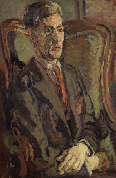 Duncan Grant, 'Portrait of Peter Morris Seated in a Wing Chair', 1928-c.