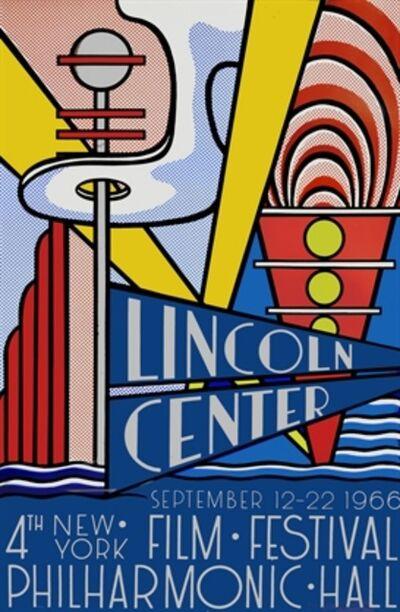 Roy Lichtenstein, 'Lincoln Center Film Festival', 1966