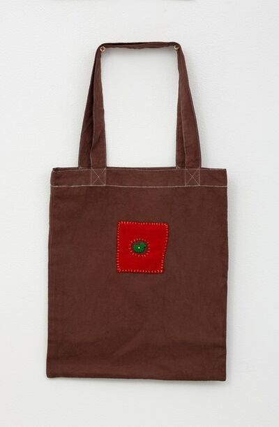 Noel McKenna, 'Brown tote bag with duck in circle', 2019