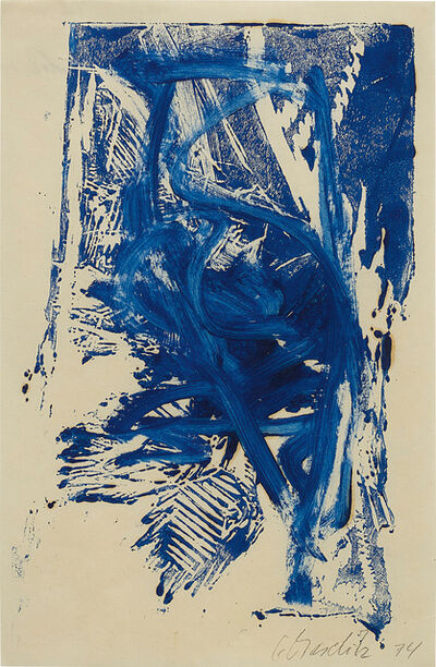 Georg Baselitz, '(Untitled) Trial proof for page 8 of the portfolio 'Adler'', 1974