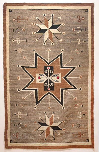 Anonymous, 'A Bisti Rug with Rose Pictorials and Valero Stars', ca. 1920